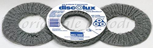 PARODI & PARODI 3 paquetes de 3 películas DISCOLUX, discos de lana de acero autoadhesivos para pulidora de suelos, Art 105, gris, estándar