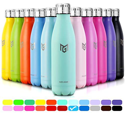 MIKAMEE Trinkflasche Edelstahl airBottle   350,500,650,750ml Isolierflasche   Doppelwandig Vakuum Wasserflasche   Auslaufsicher Thermosflasche   BPA FREI Thermoskanne   Kohlensäure geeignet für Sport