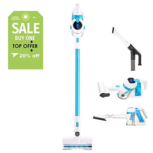Discover Bargain SIMPFREE Cordless Vacuum Cleaner, Extra Tools for Homes with Pets, Rechargeable, Li...