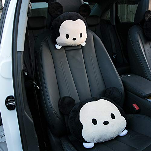 RAP Auto Nekkussen, schattige hoofdsteun, paar auto, cartoon kussen, auto kussen, creatieve interieuruitrusting, wastest decoratie, Mickey hoofdsteun + waistrest, prijs per stuk