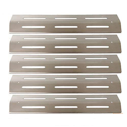 GFTIME BBQ Edelstahl-Heizplatte, Hitzeschutz, Brennerabdeckung, Vaporizor Bar und Flavorizer Bar Ersatz für Brinkmann und Kenmore Gasgrill-Modelle (5 Pack)