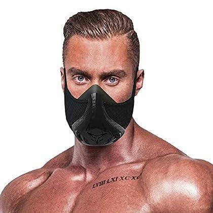 QISE Máscara de Entrenamiento Resistencia Respiración Oxígeno Sport Fitness Máscara 48 Niveles de Resistencia a la…