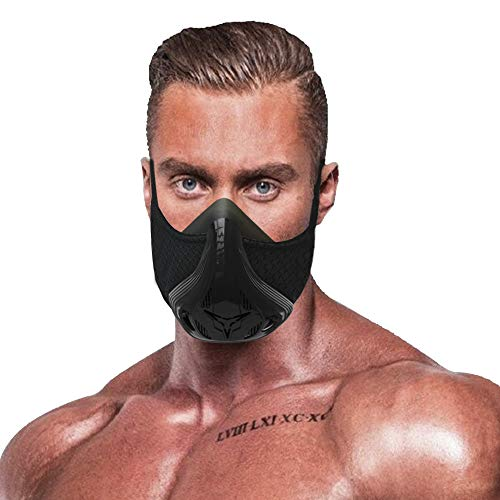 QISE Training Mask Resistance Breathing Oxygen Sport Fitness Mask 48 Breathing Resistance Levels and Imitate Workout at High Altitudes for Running Biking Fitness Jogging Climbing Cardio Exercise