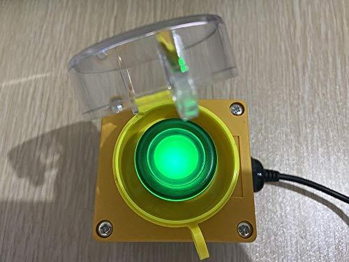 Programmierbare Makro-Tastatur, Konferenz-Starttaste, Hauptauswahl, Schlüsselplatte, Spiel-Aufnahme, Shortcut-Taste, USB-PC-Netzschalter Eingabetaste gelbe Gehäuse mit grüner LED