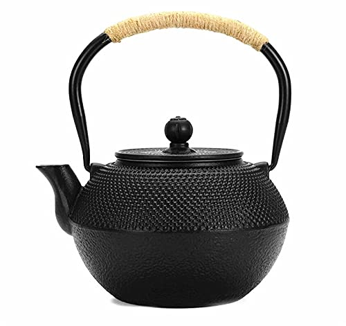 EatingBiting Japanese Cast Iron Teapot Kettle With Stainless Steel Infuser Stovetop Teapots 1.2KG 900ml/30.4oz Workshop Tea pot Safe Coated with Enameled Interior