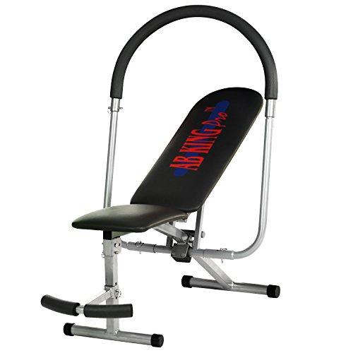 Abdominales Y Espalda Banco Sit Up Entrenamiento A Partir de King Pro con tope de goma antideslizante, plegable, multifunción para, varios ejercicios abdominales y cuerpo muscular Trainer