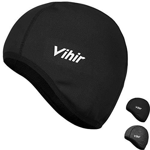 Vihir Wintermütze Warm Bike Cap Winddichte Fahrrad Mütze Winter Helm Unterziehmütze -Black1