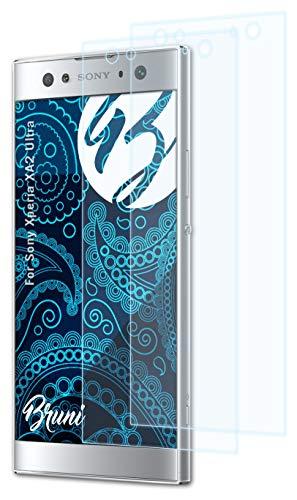 Bruni Schutzfolie kompatibel mit Sony Xperia XA2 Ultra Folie, glasklare Bildschirmschutzfolie (2X)