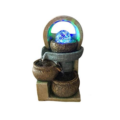 Teri Fuente de escritorio de resina fuentes de agua fuentes