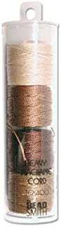 S-lon Heavy Bead Cord Brown Mixture 0.9mm Diameter 4 Spools