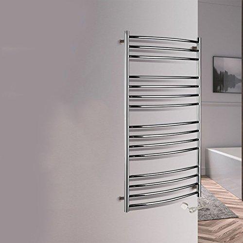 TT Toallero eléctrico de Toalla para baño tendedero de Acero Inoxidable para baño Toallero para Toalla de Estante para Toalla de Pared