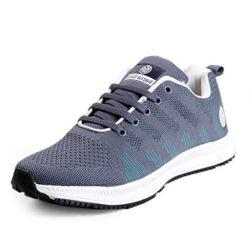 Bacca Bucci® Mens Rapid Sports Casual Running Shoes Walking Jogging Gym Sneakers Comfortable Breathable Trainers Athletic UK12 Grey