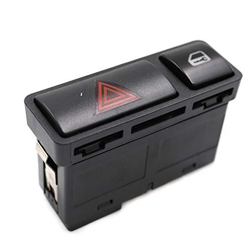 KCSAC 61318368920 Peligro Warnng Light Block Interruptor de emergencia Flash Interruptor de luz Pulsador Interruptor de encendido/apagado Ajuste para BMW 3 Series E46