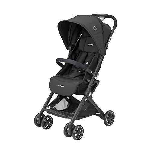 Maxi-Cosi Lara, Buggy mit Liegeposition, ultra-klein zusammenklappbar, ab 6 Monate bis ca. 4 Jahre, max. 15 kg, kompakter Kinderbuggy inkl. Regenschutz und großem Einkaufskorb, essential black