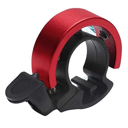 Fahrradklingel Aluminiumlegierung Fahrradglocke O-Design Innovative Fahrrad Ring Mini Klingel Bell Radfahren für 22.2-23.8 mm Lenker (Rot)