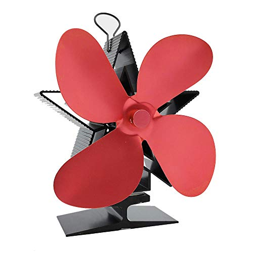 VSOO Eco-Friendly und effiziente Fan Kaminventilator 4 Klingen Hitze Powered Ofen Fan für Holzofen Log Brenner Kamin
