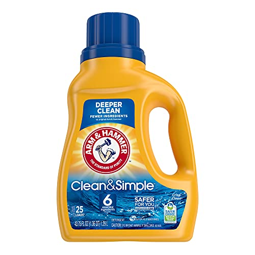 (45% OFF) ARM & HAMMER Clean & Simple Liquid Laundry Detergent $4.39 Deal