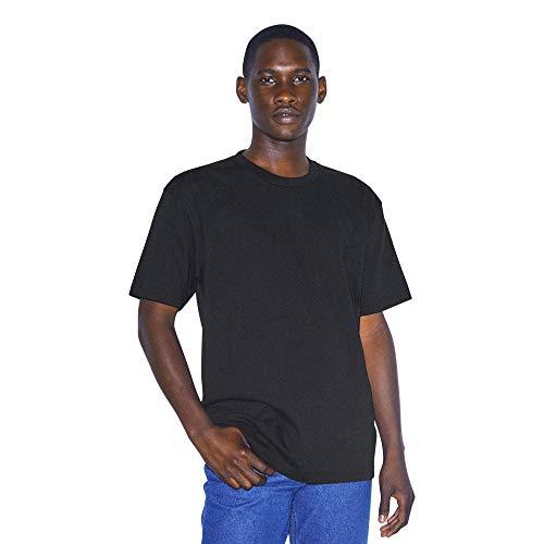 American Apparel Unisex-Erwachsene Heavy Jersey Box Short Sleeve T-Shirt, schwarz, Mittel