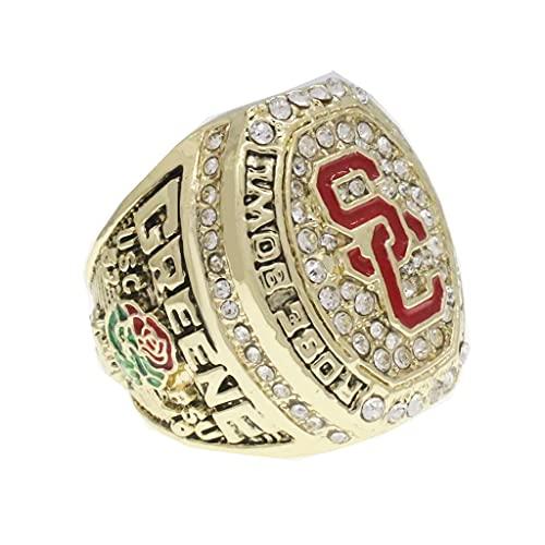 TYTY NCAA 2017 USC Rose Championship Ring Anillos de Hombre, Championship Anillo de réplica Personalizado Anillos de Diamantes para Hombres,Without Box,11#