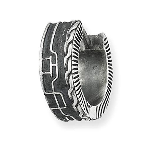 Cai Herren Creole 925/- Sterling Silber 1,3cm Oxidiert ohne Stein weiß 132210507