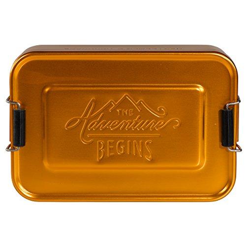 Gentleman 's Hardware Aluminium-Brotdose, Gold