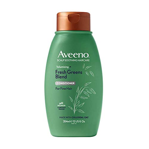 Aveeno Scalp Soothing Haircare Volumising Fresh Greens Conditioner for Fine Hair 354ml