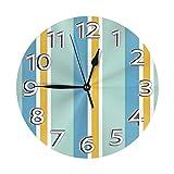 DZCP-y Reloj de Pared Redondo de Calabaza Blanca Ghsot RAD, Reloj Redondo clásico con Pilas Digital para Escuela de Oficina en casa