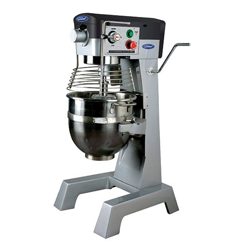 General Commercial Planetary Mixer 30 Quart 3 Speed Gear Drive 2 Hp Motor 120V Model Gem130
