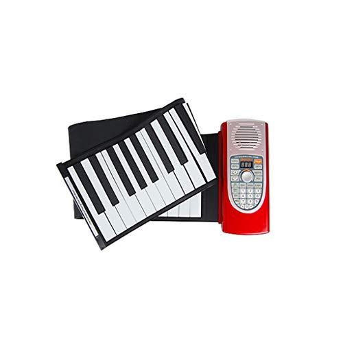 LIUFS-El teclado Hand Roll Piano 61 Teclado Portátil Recargable Con Un Teclado MIDI Grueso De Sustain (Tamaño : 61 keys)