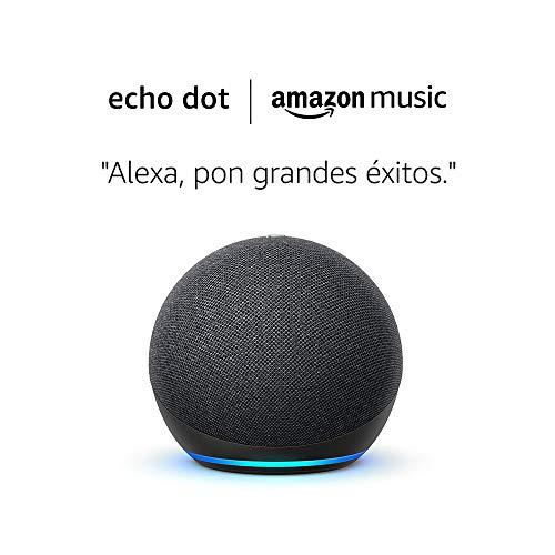 Amazon Echo Dot (4.ª generación) tela de color antracita+ Amazon Music Unlimited (6 meses GRATIS con renovación automática)