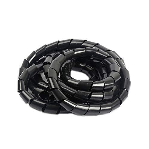 Her Kindness Kabel-Organizer Spiral-Kabelschlauch ø 15mm zum Bündeln von Kabeln bei PC TV HIFI-Anlage(10m)