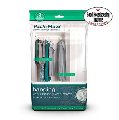 Packmate ® - Sacchetti sottovuoto Salva Spazio per Appendere Abiti - Adatto per Completi, Vestiti, Cappotti, Giacche, T Shirt & Altri
