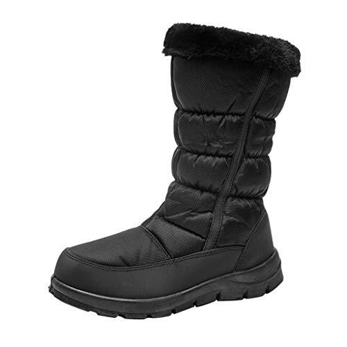 ADOSSAC Bottes de Neige Après Ski Femmes Filles, Bottines de Pluie Imperméable Fourrure Chaussures Hiver Fourrée Chaude pour Randonnée Marche