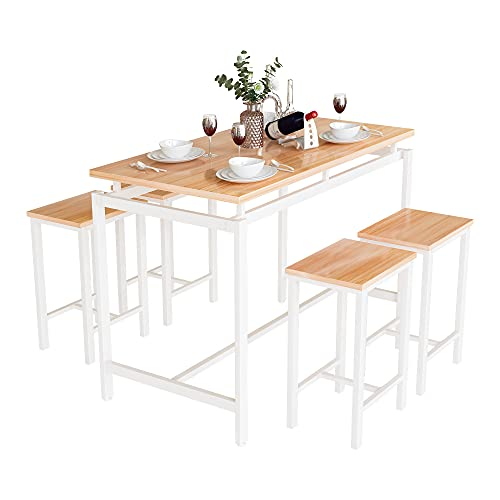 Dining Table and Chairs Set 4 for Dining Room, Home Kitchen Furniture,...