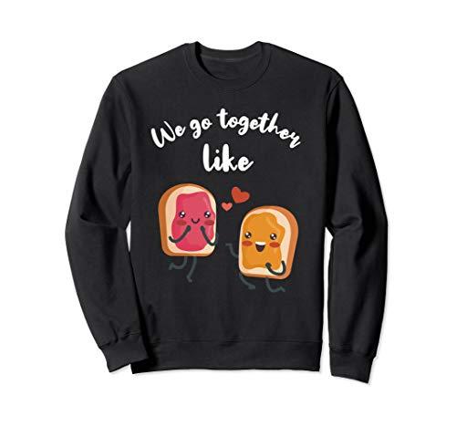 Peanut Butter and Jelly Shirt Couple PB & J Best Friend Gift Sweatshirt