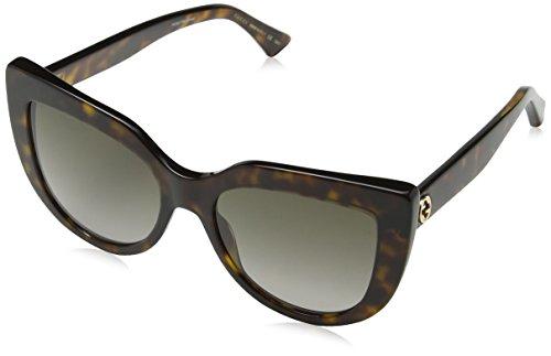 Gucci GG0164S 002 Gafas de sol, Marrón (2/Brown), 53 para Mujer