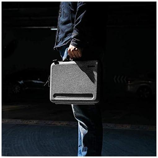 """tomtoc Maletín para 13"""" MacBook Air M1 2018-2021/A2337 A2179 A1932, 13"""" MacBook Pro M1 2016-2021/A2338 A2251 A2289 A2159, Bandolera Antigoples para Portátil con Bolsillo Organizado para Accesorios 9"""
