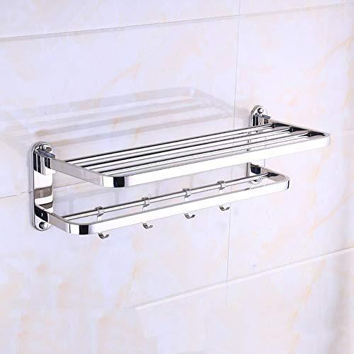 Roestvrij stalen badkamer handdoekhouder zeep sponshouder opslag haak hengelhouder