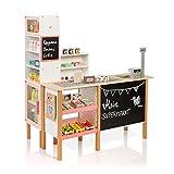 MUSTERKIND Kaufladen Alnus - Weiss / apricot - Kaufmannsladen aus Holz