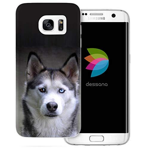 dessana H&e transparente Silikon TPU Schutzhülle 0,7mm dünne Handy Tasche Soft Case für Samsung Galaxy S7 Edge Husky