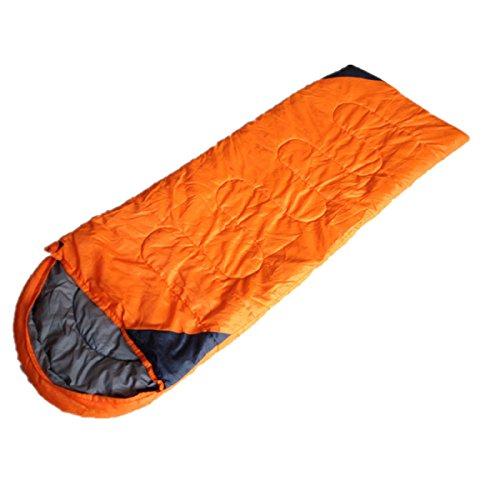 Type D'enveloppe Extérieure De Xin.S Avec Le Sac De Couchage De Chapeau Lumière Confortable Et Portatif Facile à Comprimer Sac De Couchage Multifonctionnel,Yellow-210*80cm