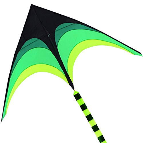 HENGDA KITE-for Kids and Adults!Umbrella Cloth Prairie Triangle Kite with Long Ribbon