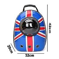XDDNYペット猫バックパック窓キャリアバックパックウィンドウ小型犬と猫のための猫のキャリア旅行バッグスペースカプセル子犬ペット製品
