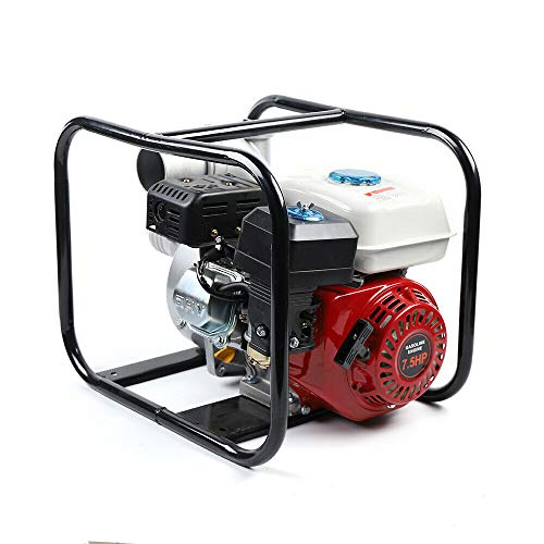 4-Stroke Commercial Engine Gasoline Water Pump 7.5 HP 3 Inch Portable Gas-Powered Water Transfer Pump 60m3/h 210CC Engine Water Pump Flood Landscaping or Gardening Irrigation