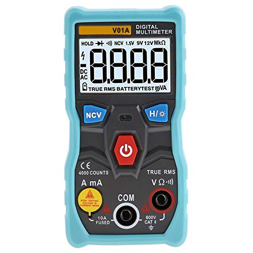 V01A Durchgangstester Strom Spannung Ohm Auto Range Multimeter True RMS Digital Multimeter Digital Multimeter Hintergrundbeleuchtung Multimeter für die Industrie(blue)
