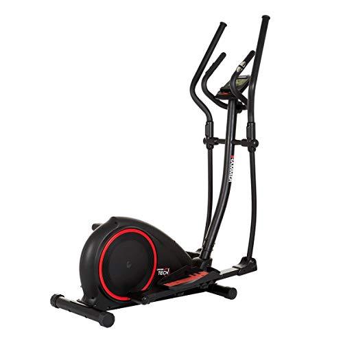 HAMMER Crosstrainer Crosstech XTR, 16 kg Schwungmasse, 20 Trainingsprogramme, gelenkschonendes Trainingsgerät, Smartphone- und Tablethalterung, max. Gewichtsbelastung 130 kg, 120 x 53 x 157 cm