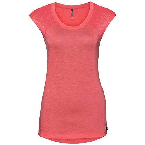 Odlo Natural+ceramiwool Light CN SS Pull sans Manche Femme, Multicolore (Dubarry 30380), 32 (Taille Fabricant: Small)