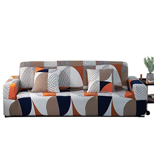 ARNTY Fundas Sofa Elasticas 1/2/3/4 Plazas,Cubre Sofa,Fundas para Sofa,Decorativas Fundas de Sofa Ajustables Protector para el Sofa Chaise Longue (Moderno A, Funda Sofa 3 Plaza:181-230cm)