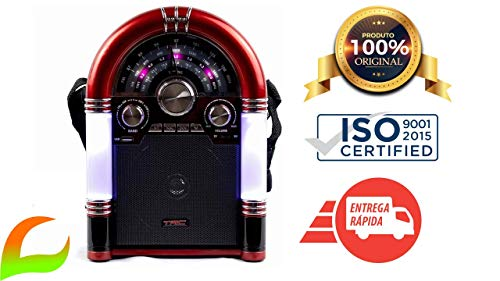 Caixa De Som Trc 210 Retrô 35w Rms Bluetooth Mini Jukebox