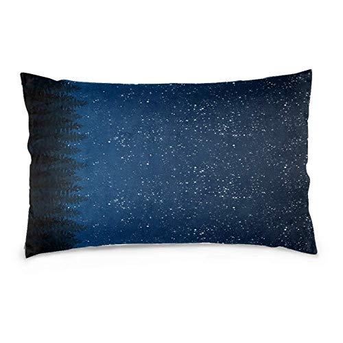Funda de Almohada Cuadrada Decorativa de Microfibra, Funda de cojín para sofá, Dormitorio, Coche con Cremallera Invisible Celestial Arden